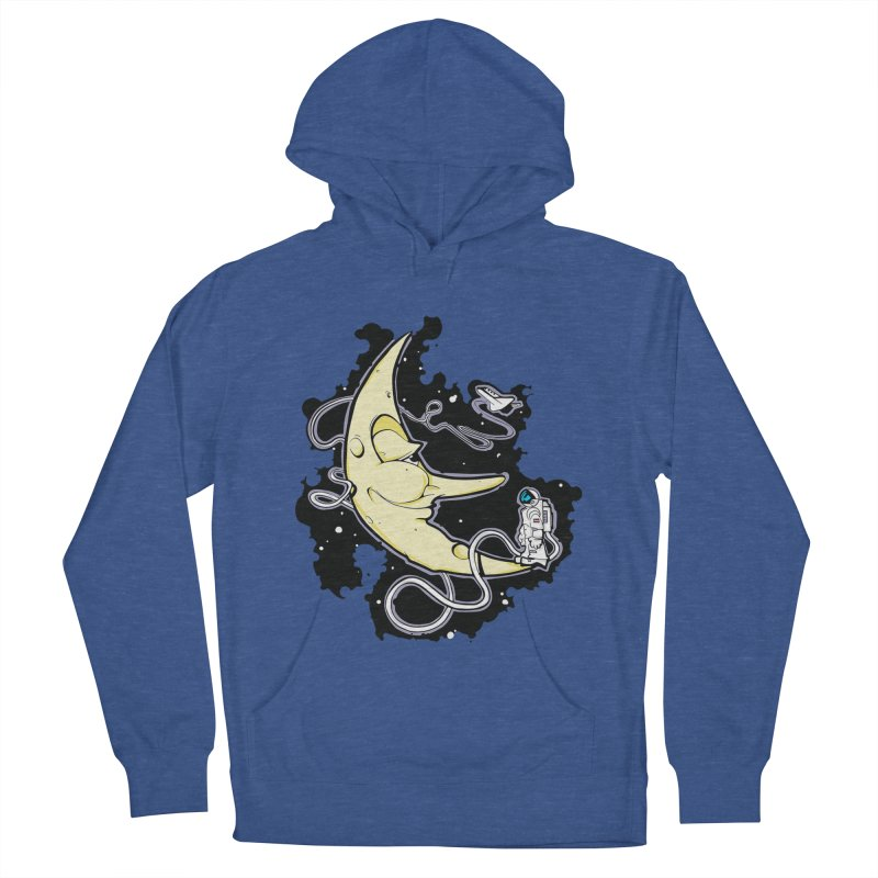 Fly me to tee moon Men's Pullover Hoody by bluesdog's Shop