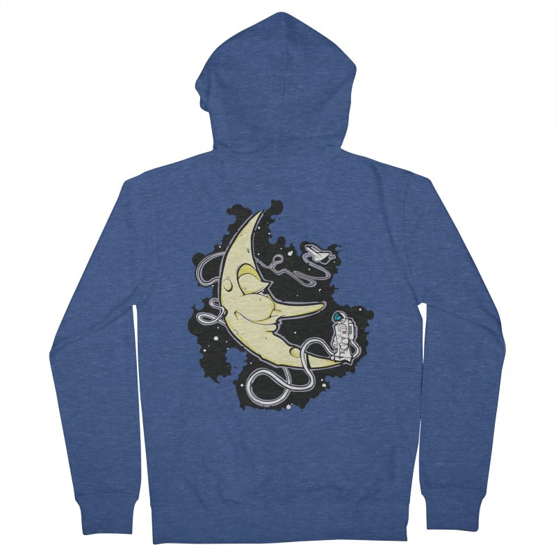 Fly me to tee moon Women's French Terry Zip-Up Hoody by bluesdog's Shop