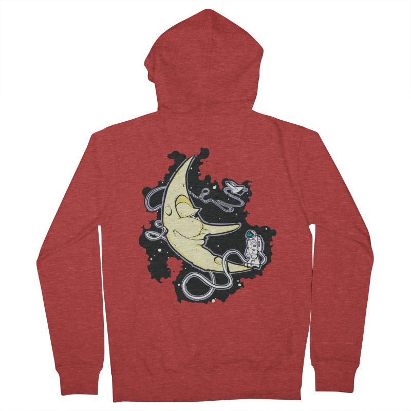 Fly me to tee moon Men's Zip-Up Hoody by bluesdog's Shop