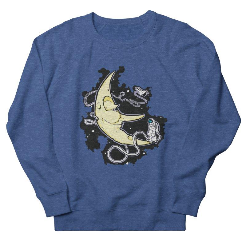 Fly me to tee moon Men's Sweatshirt by bluesdog's Shop