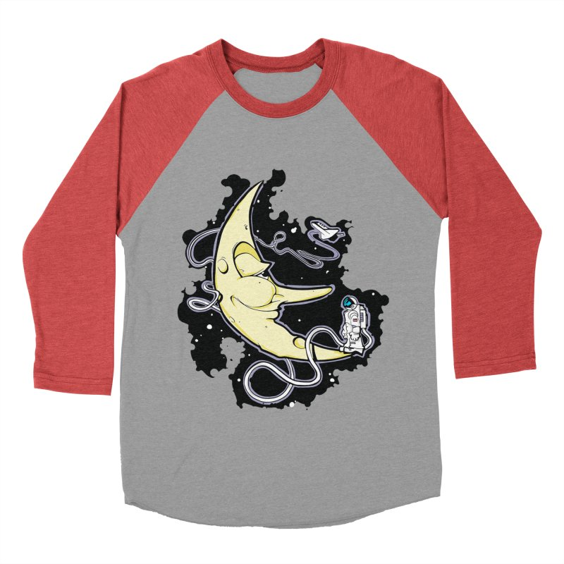 Fly me to tee moon Women's Baseball Triblend T-Shirt by bluesdog's Shop