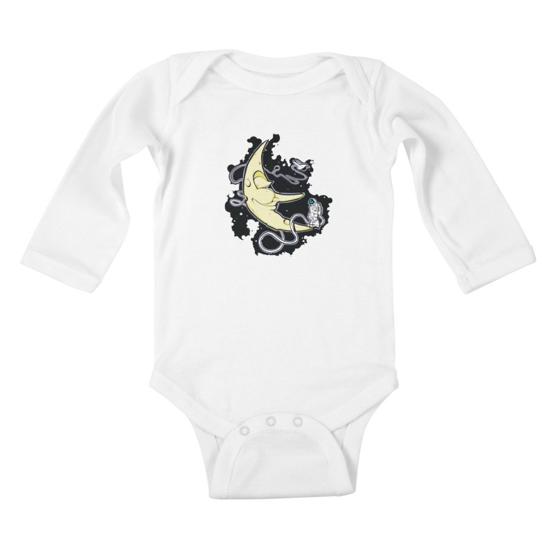 Fly me to tee moon Kids Baby Longsleeve Bodysuit by bluesdog's Shop
