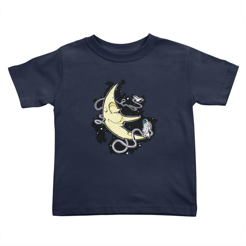 Fly me to tee moon Kids Toddler T-Shirt by bluesdog's Shop