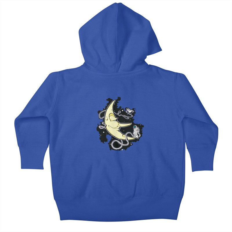 Fly me to tee moon Kids Baby Zip-Up Hoody by bluesdog's Shop
