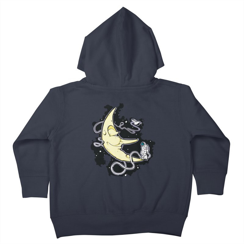 Fly me to tee moon Kids Toddler Zip-Up Hoody by bluesdog's Shop