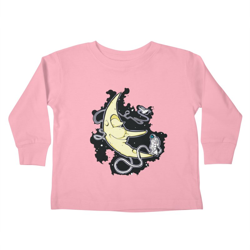 Fly me to tee moon Kids Toddler Longsleeve T-Shirt by bluesdog's Shop