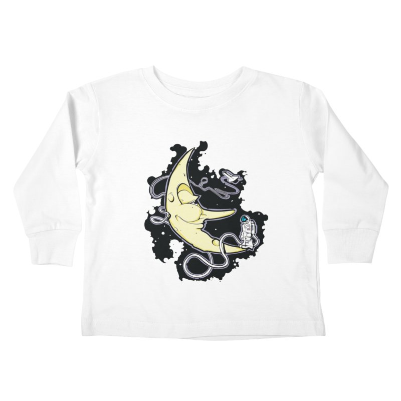 Fly me to tee moon Kids Toddler Longsleeve T-Shirt by bluesdog's Shop