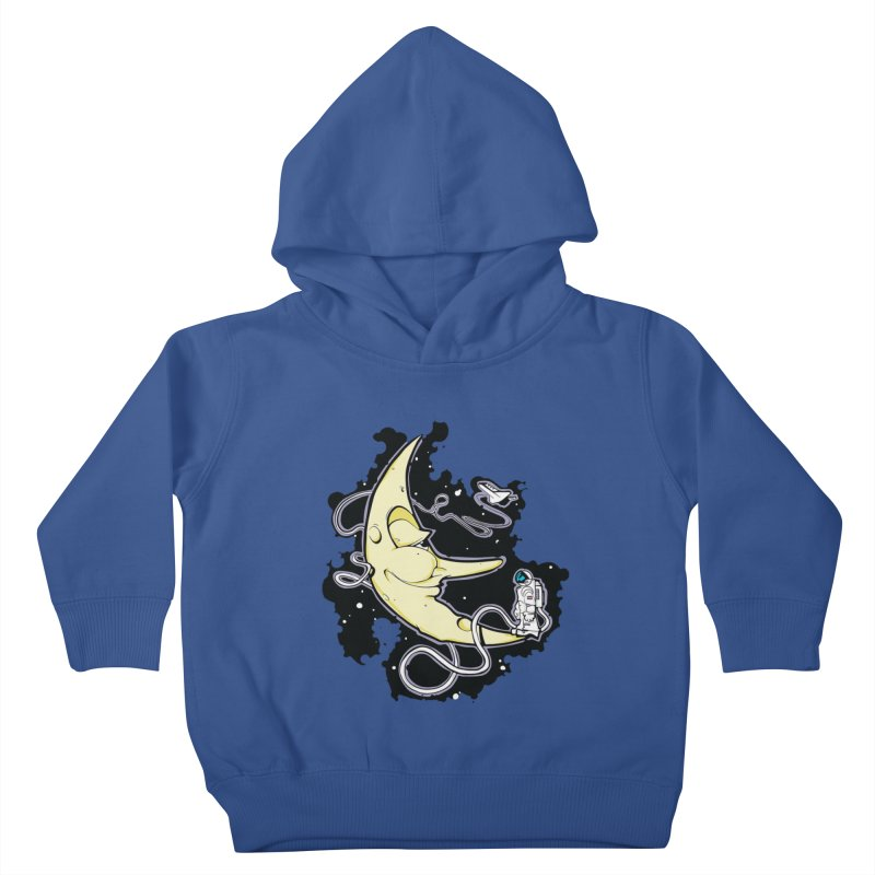 Fly me to tee moon Kids Toddler Pullover Hoody by bluesdog's Shop