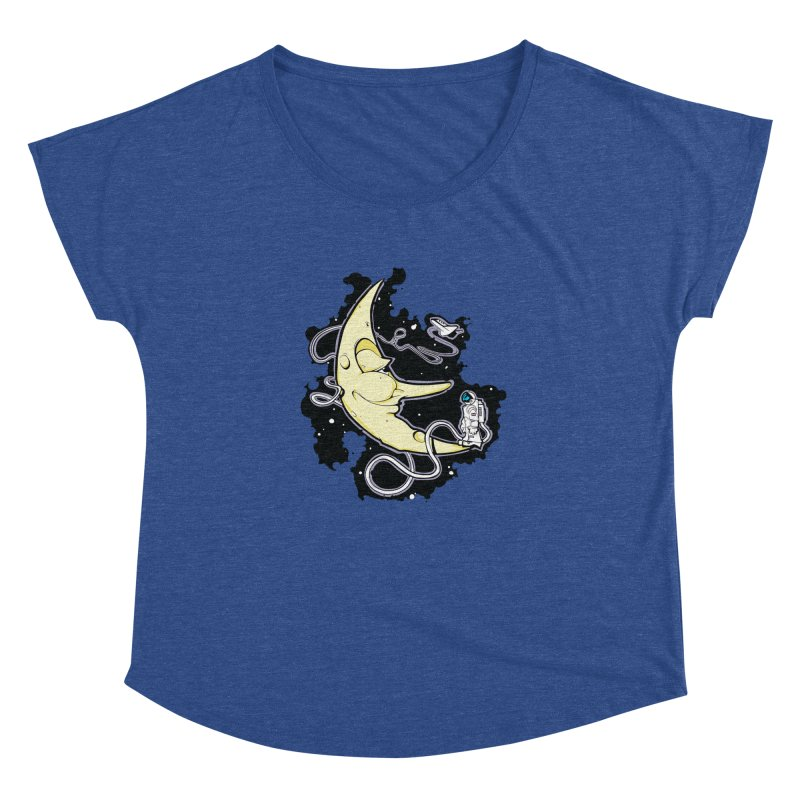Fly me to tee moon Women's Dolman by bluesdog's Shop