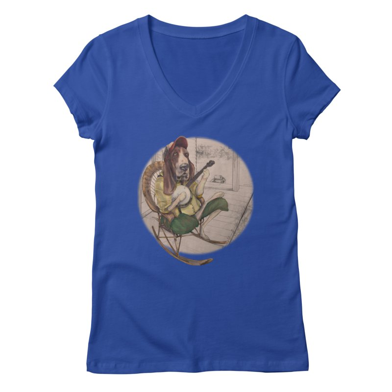 Bluegrass Women's V-Neck by bluesdog's Shop