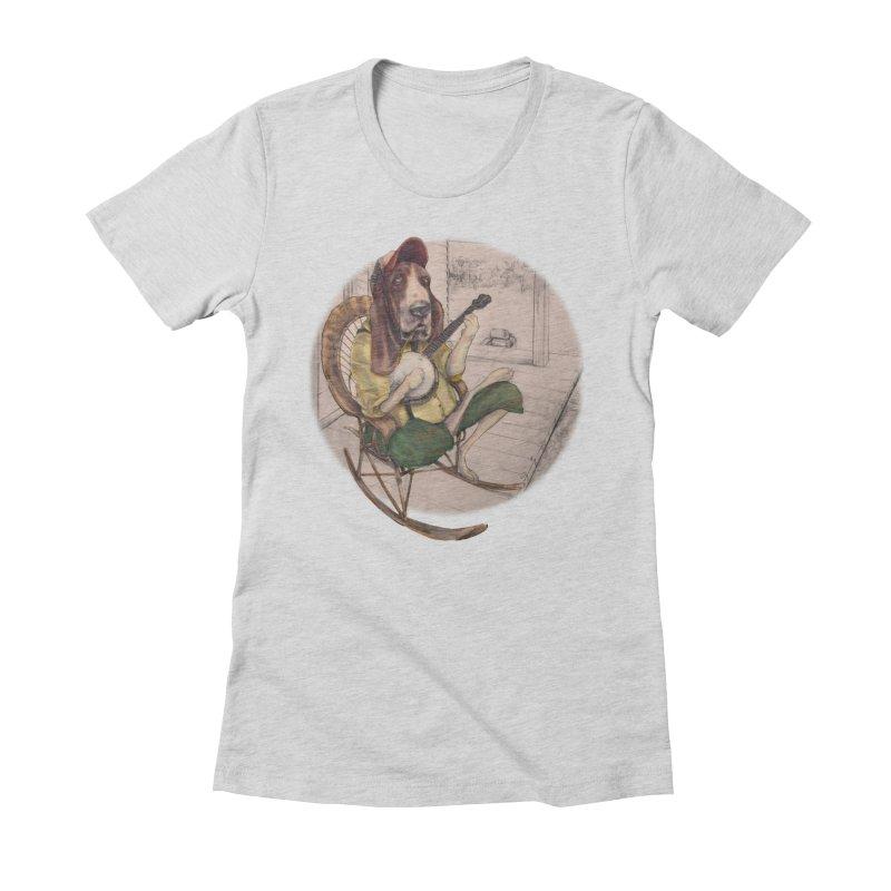 Bluegrass Women's Fitted T-Shirt by bluesdog's Shop