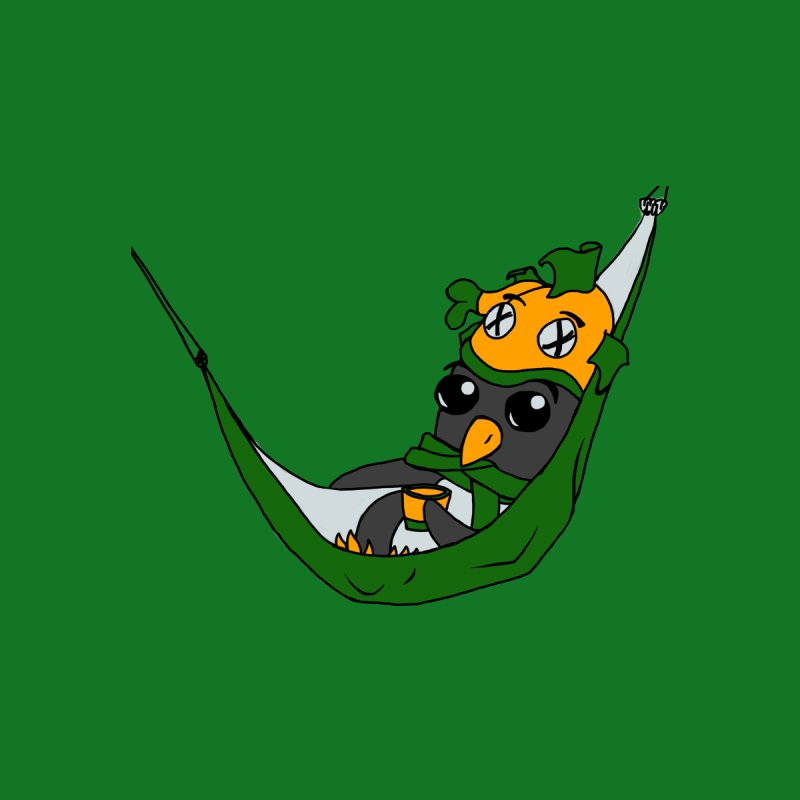 Penguin just chilling in a hammock   by bluetea1400's Artist Shop