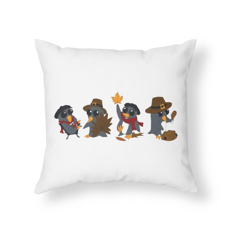 Fall line up Home Throw Pillow by bluetea1400's Artist Shop
