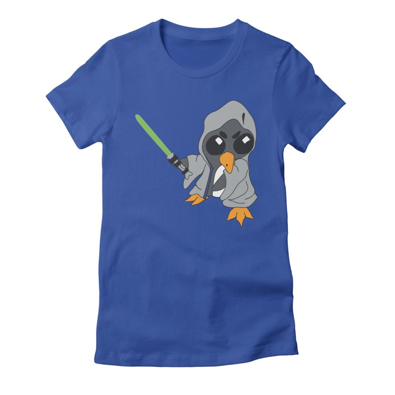 Penguin of Grey Women's Fitted T-Shirt by bluetea1400's Artist Shop