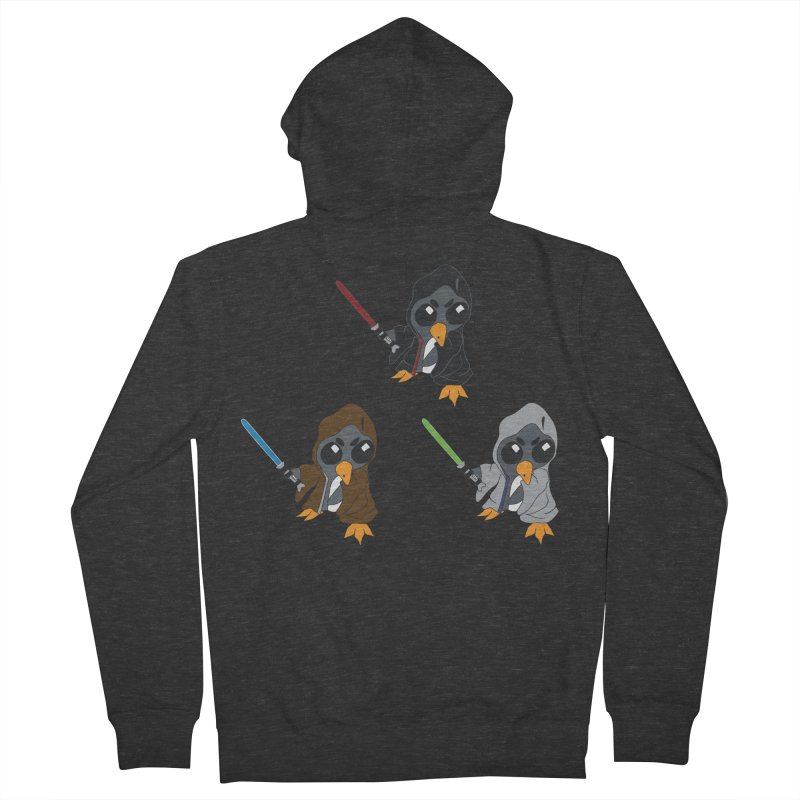 Penguin Triple Force in Men's French Terry Zip-Up Hoody Smoke by bluetea1400's Artist Shop