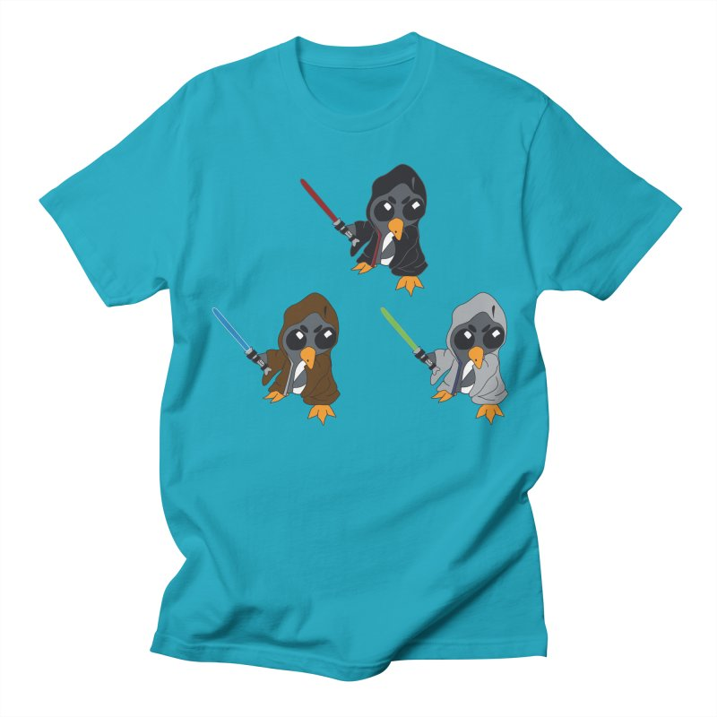 Penguin Triple Force Men's Regular T-Shirt by bluetea1400's Artist Shop