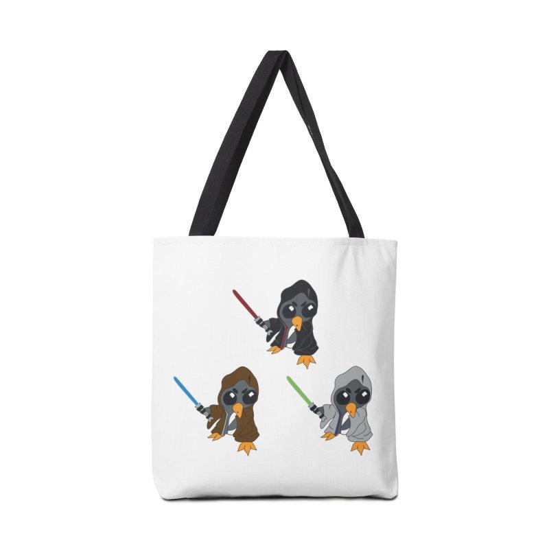 Penguin Triple Force Accessories Tote Bag Bag by bluetea1400's Artist Shop