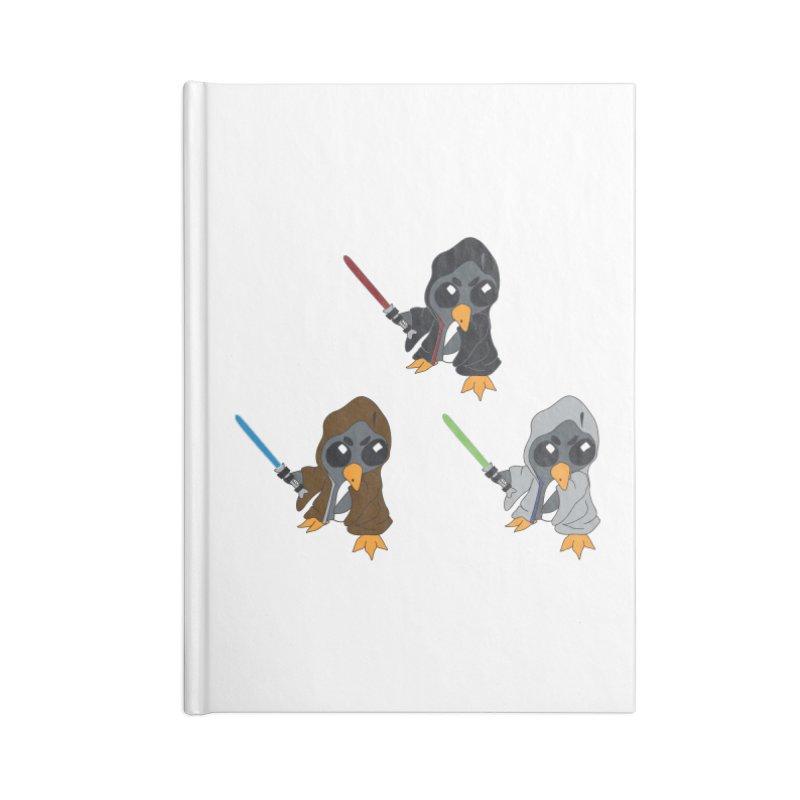 Penguin Triple Force Accessories Blank Journal Notebook by bluetea1400's Artist Shop