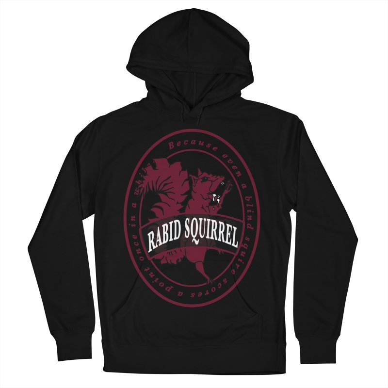 Rabid Squirrel Men's French Terry Pullover Hoody by bluetea1400's Artist Shop