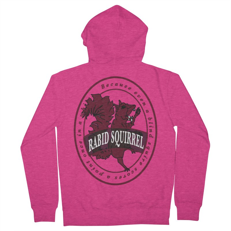 Rabid Squirrel Women's French Terry Zip-Up Hoody by bluetea1400's Artist Shop
