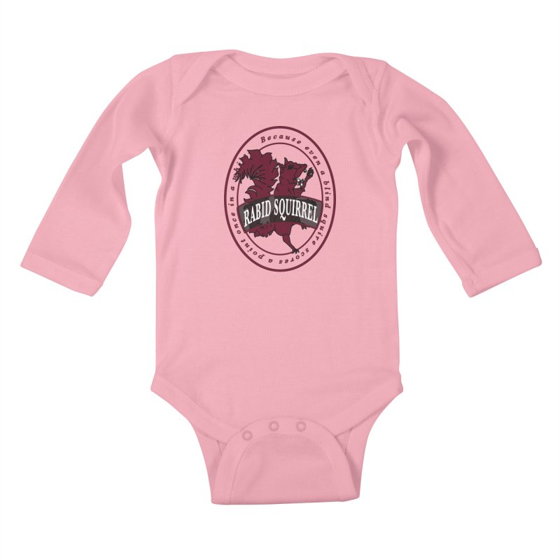 Rabid Squirrel Kids Baby Longsleeve Bodysuit by bluetea1400's Artist Shop