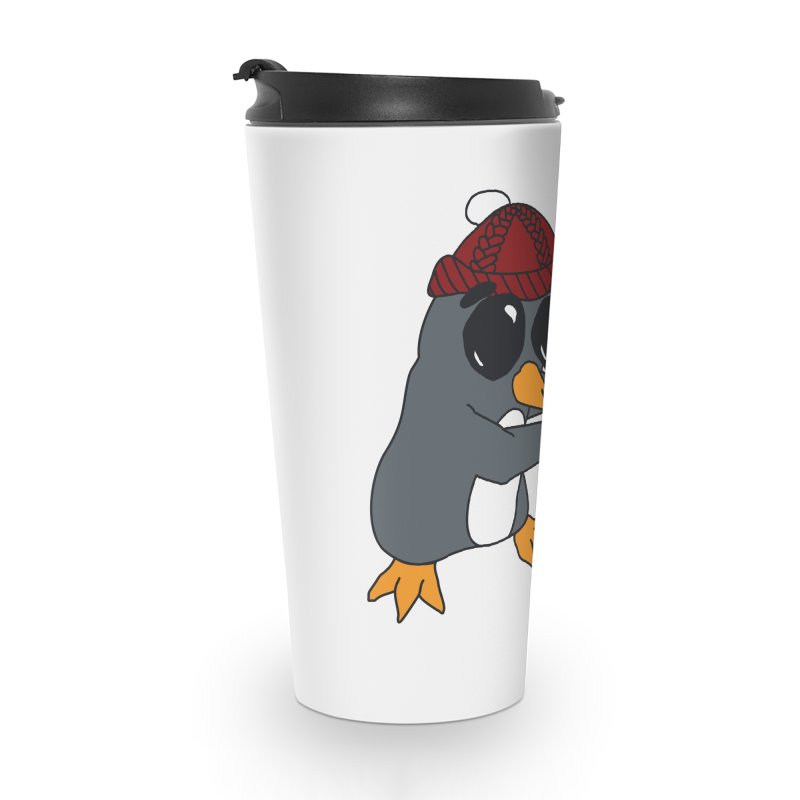 Penguin w/ present 4 U Accessories Travel Mug by bluetea1400's Artist Shop