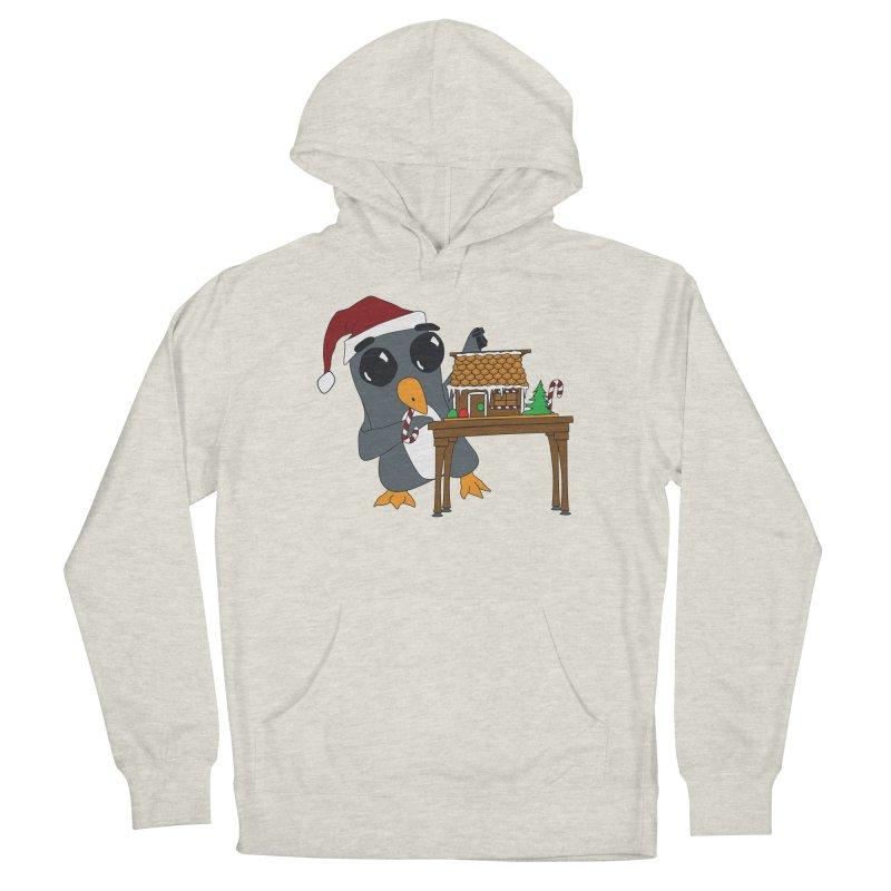 Penguin & Gingerbread House Men's Pullover Hoody by bluetea1400's Artist Shop