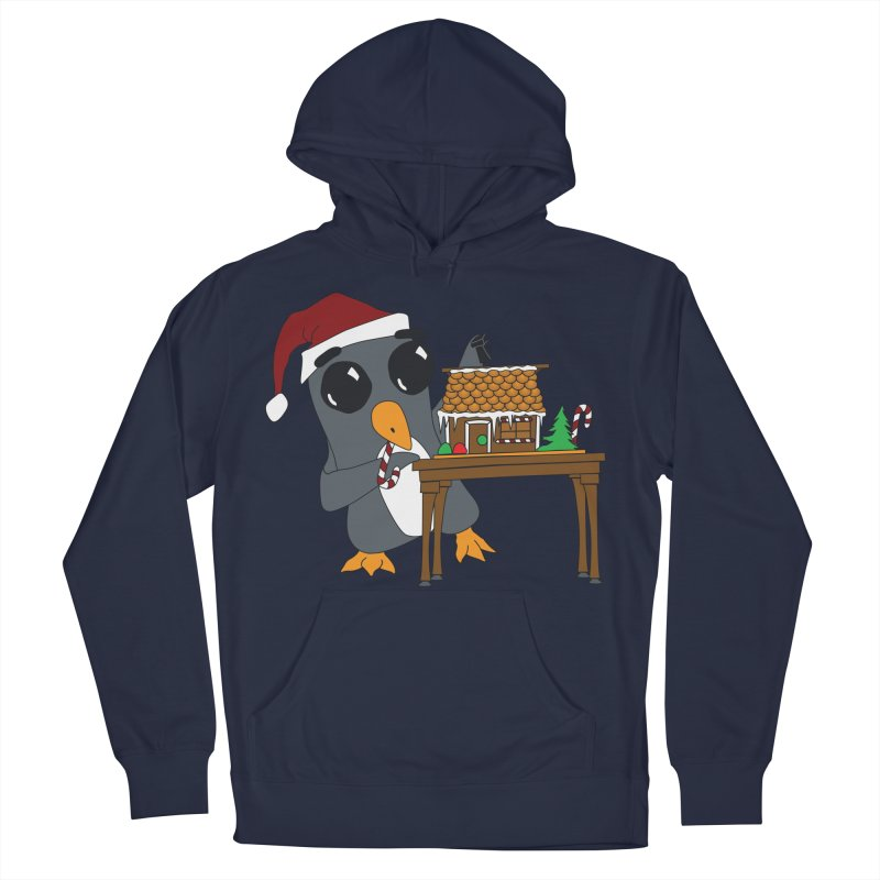 Penguin & Gingerbread House Women's French Terry Pullover Hoody by bluetea1400's Artist Shop