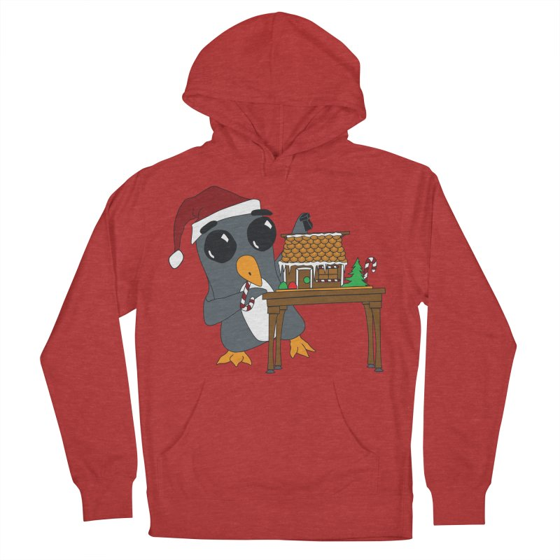 Penguin & Gingerbread House Men's French Terry Pullover Hoody by bluetea1400's Artist Shop
