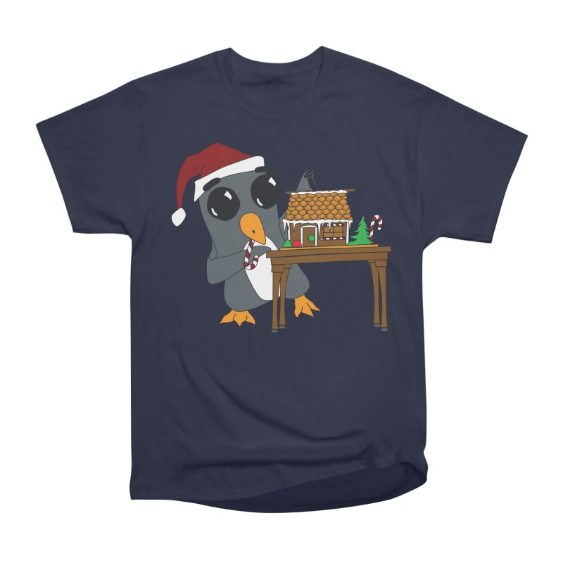 Penguin & Gingerbread House Women's Heavyweight Unisex T-Shirt by bluetea1400's Artist Shop