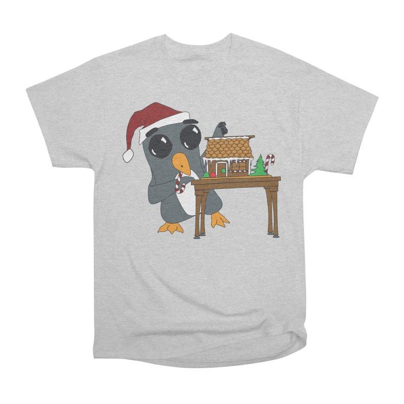 Penguin & Gingerbread House Men's Heavyweight T-Shirt by bluetea1400's Artist Shop