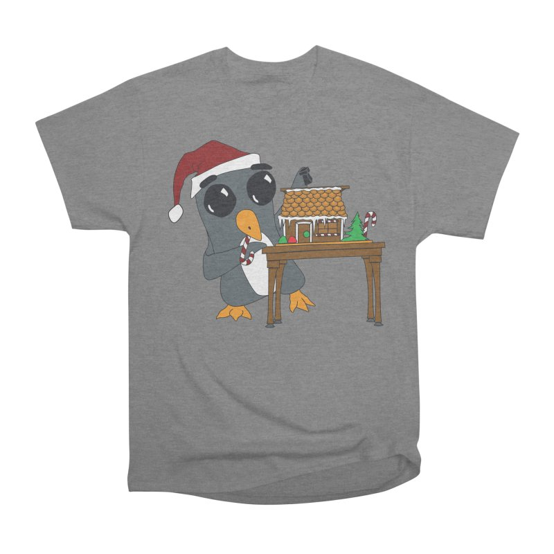 Penguin & Gingerbread House Women's T-Shirt by bluetea1400's Artist Shop