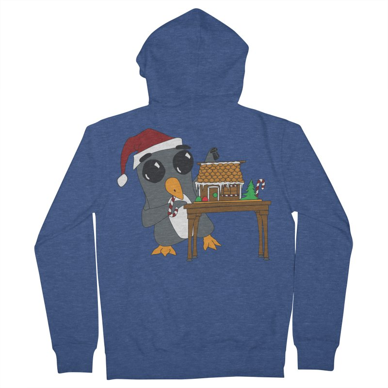 Penguin & Gingerbread House Women's French Terry Zip-Up Hoody by bluetea1400's Artist Shop