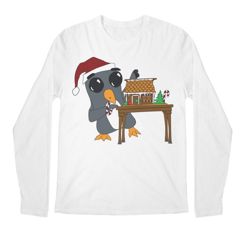 Penguin & Gingerbread House Men's Regular Longsleeve T-Shirt by bluetea1400's Artist Shop