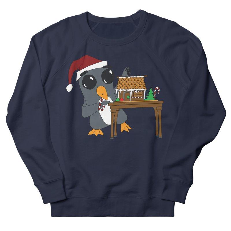 Penguin & Gingerbread House Women's French Terry Sweatshirt by bluetea1400's Artist Shop