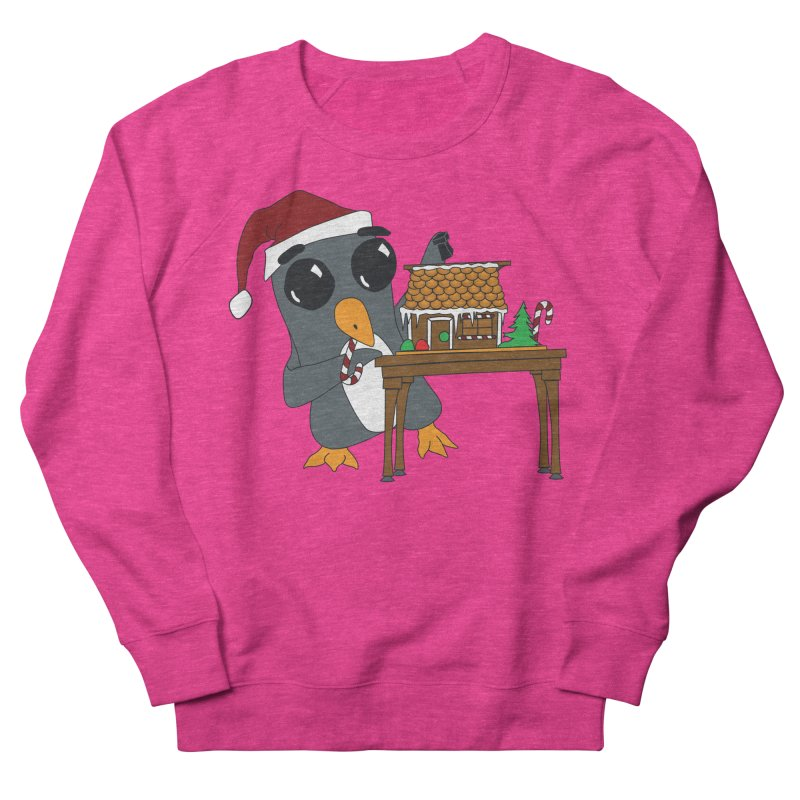 Penguin & Gingerbread House Men's Sweatshirt by bluetea1400's Artist Shop