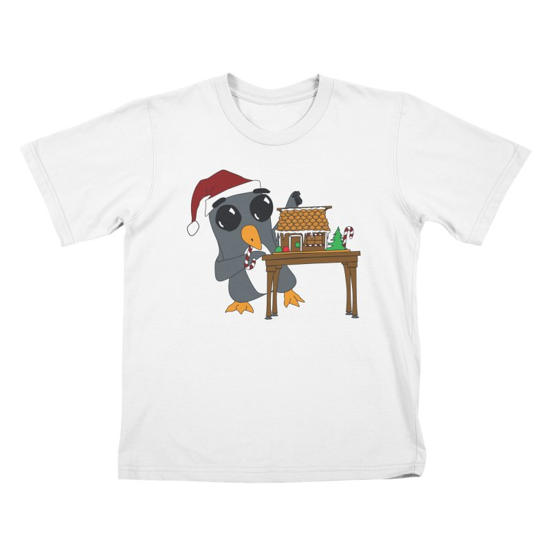 Penguin & Gingerbread House Kids T-Shirt by bluetea1400's Artist Shop