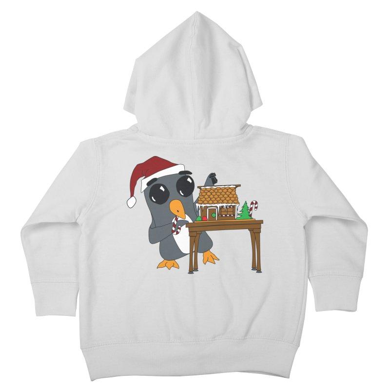 Penguin & Gingerbread House Kids Toddler Zip-Up Hoody by bluetea1400's Artist Shop