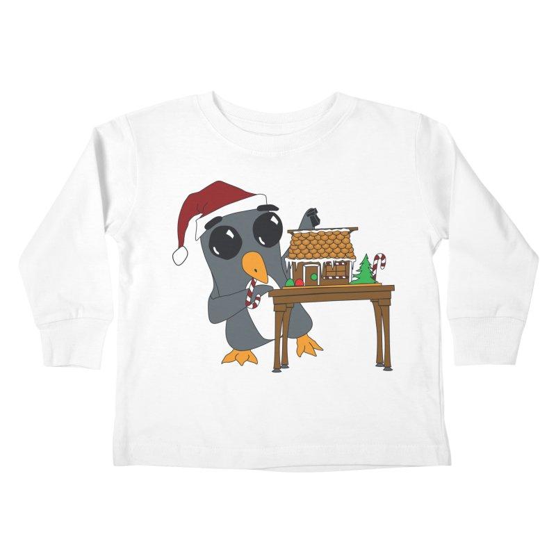 Penguin & Gingerbread House Kids Toddler Longsleeve T-Shirt by bluetea1400's Artist Shop