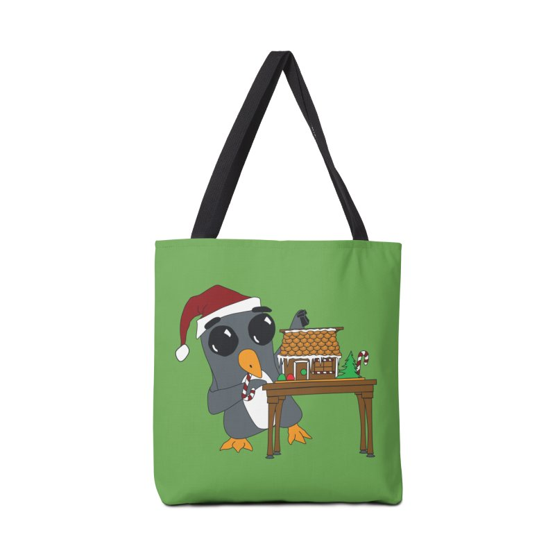 Penguin & Gingerbread House Accessories Tote Bag Bag by bluetea1400's Artist Shop