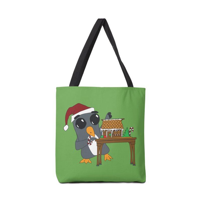 Penguin & Gingerbread House Accessories Bag by bluetea1400's Artist Shop
