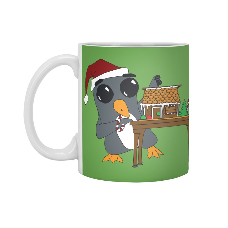 Penguin & Gingerbread House Accessories Standard Mug by bluetea1400's Artist Shop