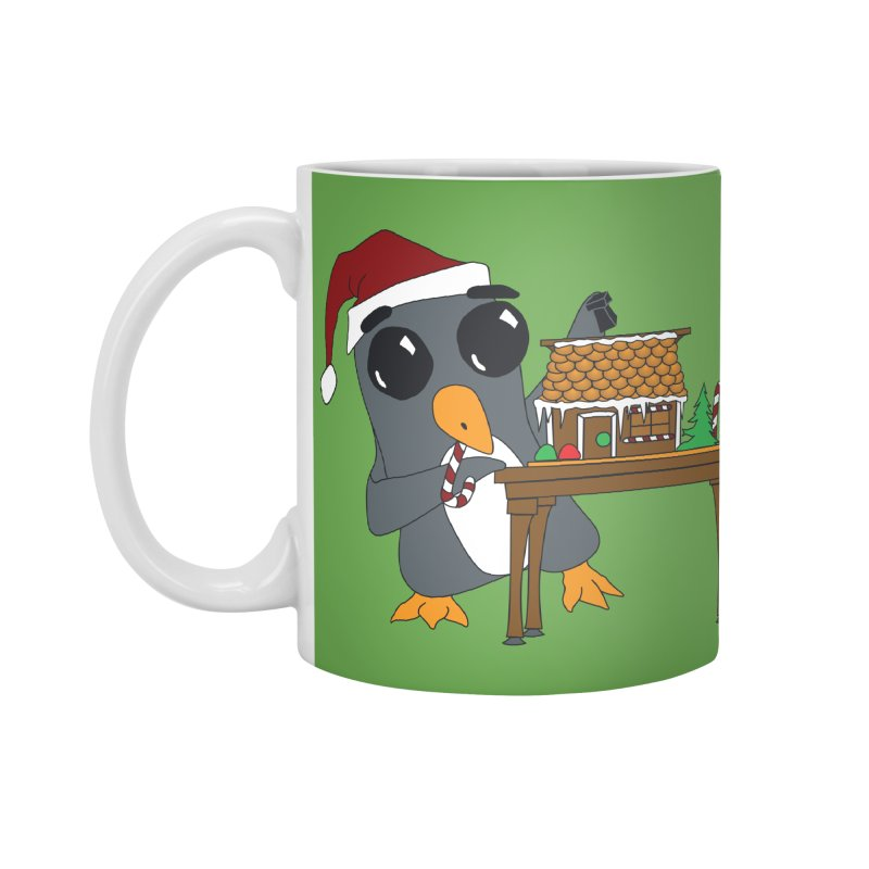 Penguin & Gingerbread House Accessories Mug by bluetea1400's Artist Shop