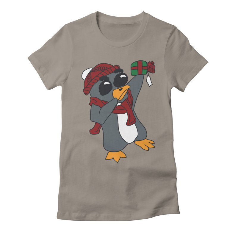 Present Shaking Penguin Women's Fitted T-Shirt by bluetea1400's Artist Shop