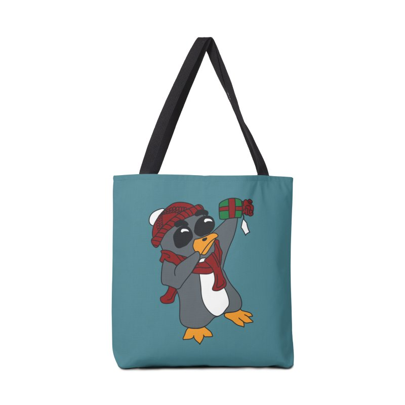 Present Shaking Penguin Accessories Tote Bag Bag by bluetea1400's Artist Shop