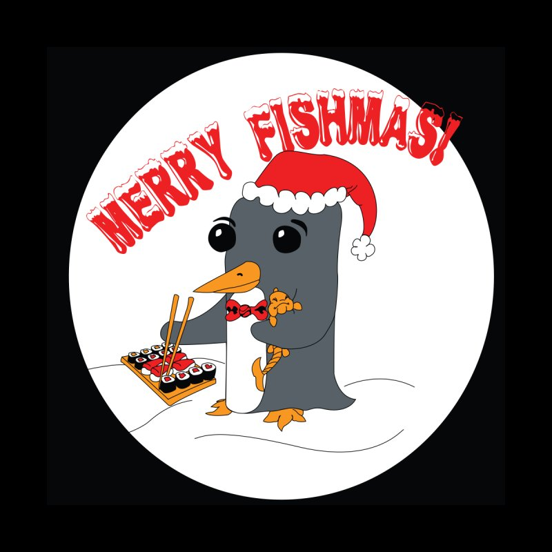 Merry Fishmas! Home Shower Curtain by bluetea1400's Artist Shop