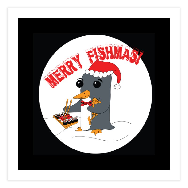 Merry Fishmas! Home Fine Art Print by bluetea1400's Artist Shop