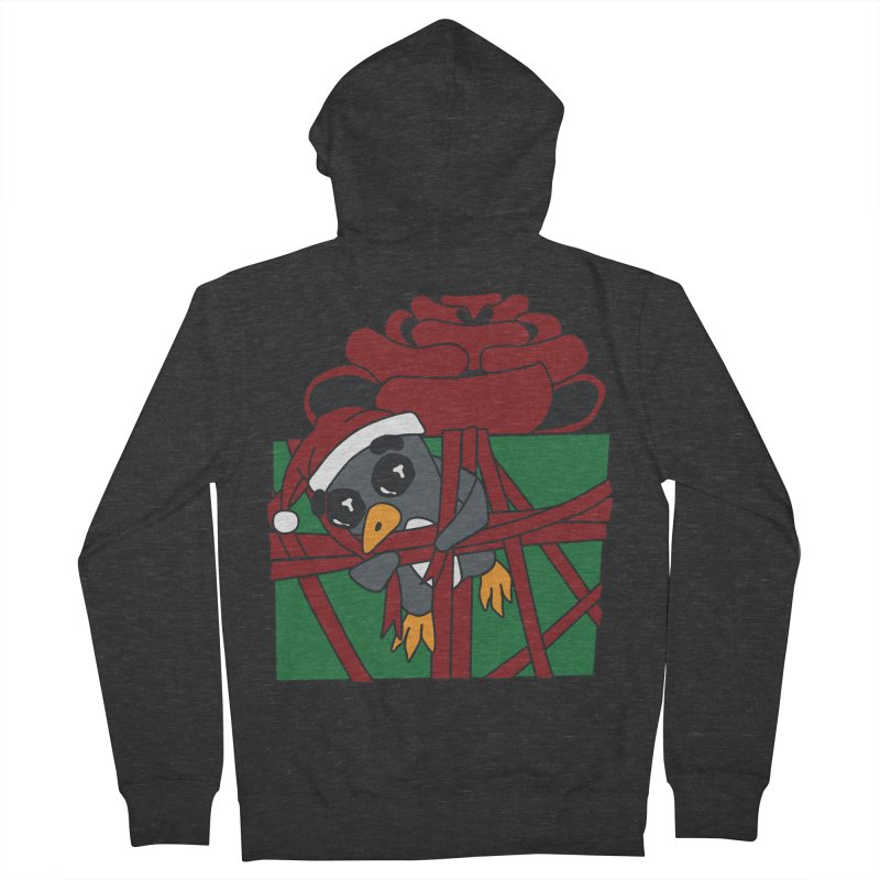 Getting Wrapped up in the Holidays Women's French Terry Zip-Up Hoody by bluetea1400's Artist Shop