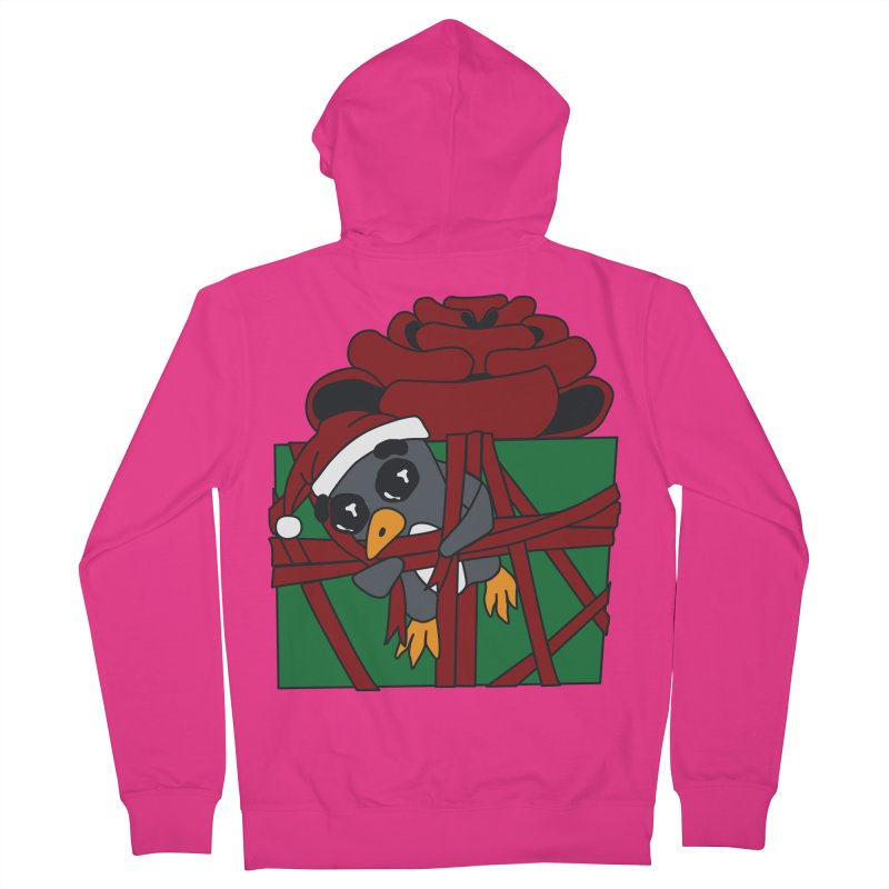Getting Wrapped up in the Holidays Men's French Terry Zip-Up Hoody by bluetea1400's Artist Shop