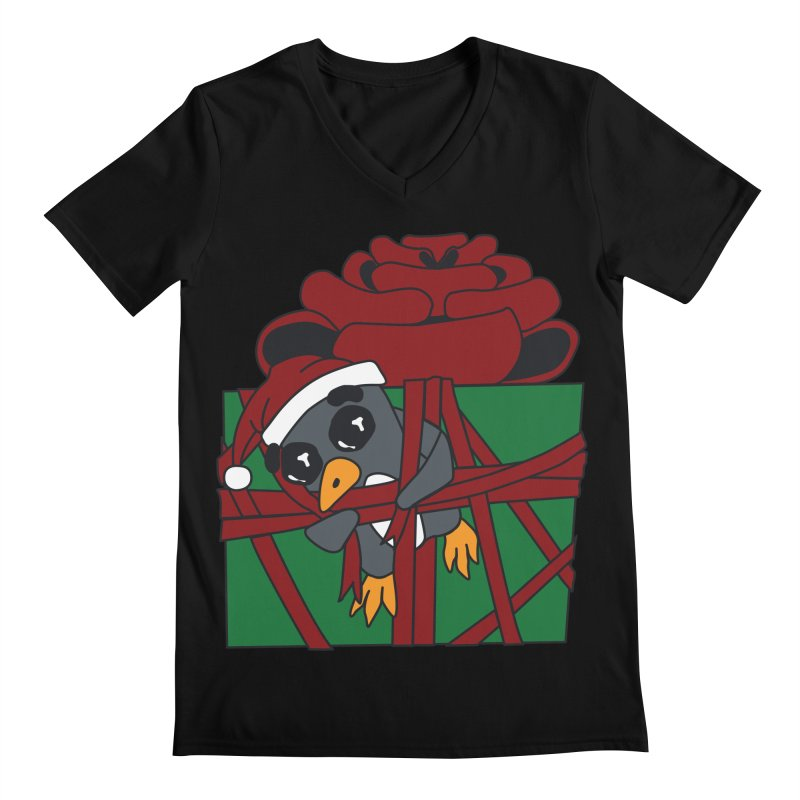 Getting Wrapped up in the Holidays Men's Regular V-Neck by bluetea1400's Artist Shop
